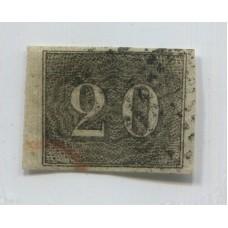BRASIL 1850 Yv. 12 ESTAMPILLA USADA 110 Euros