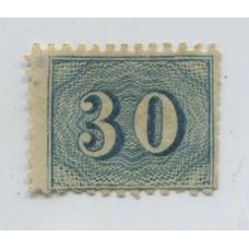 BRASIL 1854 Yv. 20B ESTAMPILLA NUEVA MUY RARA DENTADA 650 Euros