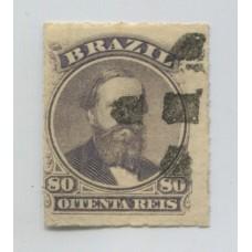 BRASIL 1876 Yv. 33 ESTAMPILLA USADA 25 Euros