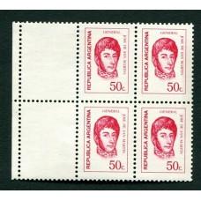 ARGENTINA 1970 GJ 1531CZ CON COMPLEMENTO CUADRO NUEVO MINT U$11