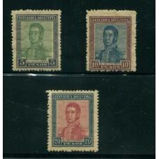 ARGENTINA 1917 GJ 453/455 LOS 3 VALORES FINALES DE LA SERIE U$ 150