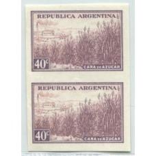 ARGENTINA 1935 GJ 768P PROCERES Y RIQUEZAS PAREJA SIN DENTAR MINT U$ 67