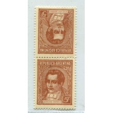 ARGENTINA 1935 GJ 795T PROCERES Y RIQUEZAS 1  MINT U$ 39