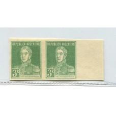 ARGENTINA 1924 GJ 597P PAREJA SIN DENTAR U$ 75