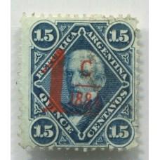 ARGENTINA 1884 GJ 75 ESTAMPILLA USADA U$ 30
