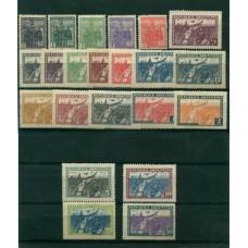 ARGENTINA 1930 GJ 670/694 SERIE COMPLETA DE LA REVOLUCION DEL 30 NUEVA ALTO VALOR U$ 1510