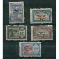 ARGENTINA 1930 GJ 665/9 SERIE COMPLETA ZEPPELIN VERDE NUEVA CON SUAVE RESTO ESTUPENDA CALIDAD  U$ 700