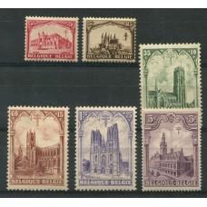 BELGICA 1928 Yv. 267/72 SERIE DE ESTAMPILLAS NUEVAS TUBERCULOSIS MEDICINA 35 EUROS