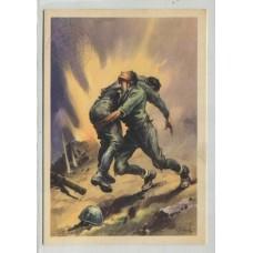 ITALIA 1941 TARJETA POSTAL PATRIOTICA SEGUNDA GUERRA MUNDIAL