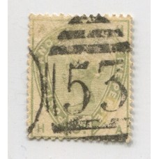 INGLATERRA 1883 Yv. 82 ESTAMPILLA USADA 200 EUROS