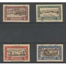 LIECHTENSTEIN 1928 Yv. 78/81 SERIE COMPLETA DE ESTAMPILLAS USADAS 130 EUROS