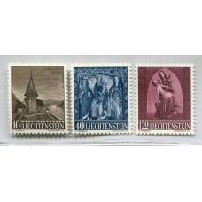 LIECHTENSTEIN 1957 Yv. 324/6 SERIE COMPLETA DE ESTAMPILLAS MINT RELIGION 18 EUROS