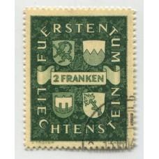 LIECHTENSTEIN 1939 Yv. 159 ESTAMPILLA USADA 37 EUROS
