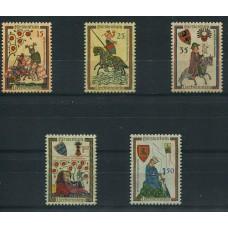 LIECHTENSTEIN 1961 Yv. 359/63 SERIE COMPLETA DE ESTAMPILLAS MINT 15 EUROS