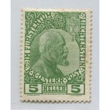 LIECHTENSTEIN 1912 Yv. 1 ESTAMPILLA NUEVA 40 EUROS