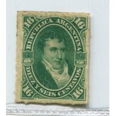 ARGENTINA 1876 GJ 50 PE 34 NUEVO CON GOMA U$ 12