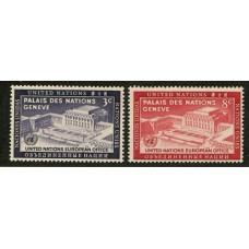 NACIONES UNIDAS 1954 Yv. 25/6 SERIE COMPLETA ESTAMPILLAS MINT