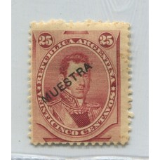 ARGENTINA 1877 GJ 56 ESTAMPILLA CON SOBRECARGA MUESTRA