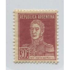 ARGENTINA 1923 GJ 572 ESTAMPILLA NUEVA CON GOMA U$ 16