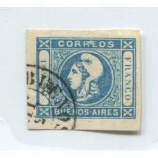 ARGENTINA 1859 GJ 17 ESTAMPILLA USADA DE GRAN CALIDAD, MUY BUEN EJEMPLAR U$ 20