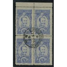 ARGENTINA 1889 GJ 116 CUADRO DE ESTAMPILLAS CON MATASELLO 15-OCT-1892 DE PERFECTA CONDICION HERMOSO Y DE LUJO, COMO SELLOS SUELTOS YA MARCAN U$ 100 ASI MUCHO MAS