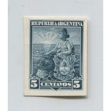 ARGENTINA 1899 GJ 222 ENSAYO EN PAPEL GRUESO DE FRENTE SATINADO