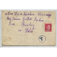 ALEMANIA EN RUSIA 1942 SOBRE CIRCULADO POR CORREO OFICIAL DESDE UCRANIA CON MARCA DE CENSURA