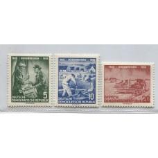 ALEMANIA ORIENTAL DDR 1955 Yv. 210/2 SERIE COMPLETA DE ESTAMPILLAS MINT