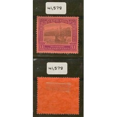COLONIAS INGLESAS St. KITTS NEVIS 1923 Yv. 85 ESTAMPILLA NUEVA CON GOMA DE ESTUPENDA CALIDAD, RARISIMA CON CERTIFICADO DE AUTENTICIDAD 1100 EUROS