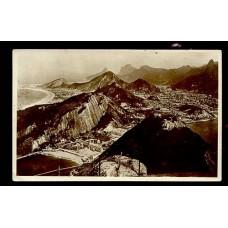 """ALEMANIA 1929 TARJETA POSTAL CIRCULADA DESDE BRASIL POR BARCO PAQUEBOT ALEMAN """"CAP ARCONA"""" DE LA LINEA HSDG"""