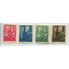 PORTUGAL 1948 Yv. 702/5 SERIE COMPLETA DE ESTAMPILLAS NUEVAS MINT 21 EUROS