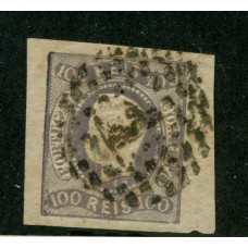 PORTUGAL 1866 Yv. 24 ESTAMPILLA USADA, HERMOSA Y DE LUJO 115 Euros