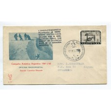 ANTARTIDA ARGENTINA 1962 SOBRE BASE ELLSWORTH, RARA