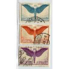 SUIZA 1924 Yv. A10a/12a SERIE COMPLETA DE ESTAMPILLAS USADAS 125 EUROS