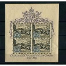 VATICANO 1952 BLOQUE Yv. 1 HOJITA COMPLETA NUEVA MINT 216 EUROS, RARA