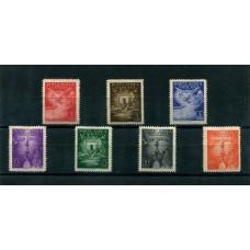 VATICANO 1947 AEREO Yv. 9/15 SERIE COMPLETA DE ESTAMPILLAS NUEVAS CON GOMA 24 EUROS