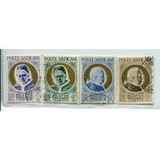 VATICANO 1951 Yv. 163/6 SERIE COMPLETA DE ESTAMPILLAS USADAS 24 EUROS