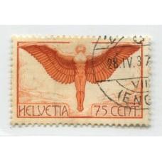 SUIZA 1924 Yv. A11 ESTAMPILLA USADA 120 EUROS