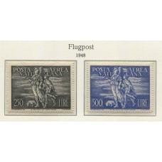 VATICANO 1948 Yv. AEREO 16/7 SERIE COMPLETA DE ESTAMPILLAS NUEVAS CON GOMA 425 Euros