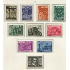 VATICANO 1949 Yv. 140/9 SERIE COMPLETA DE ESTAMPILLAS NUEVAS MINT 67 Euros