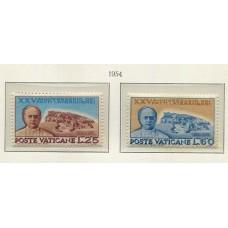 VATICANO 1954 Yv. 192/3 SERIE COMPLETA DE ESTAMPILLAS NUEVAS NUEVAS CON GOMA 7,75 Euros