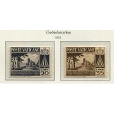 VATICANO 1954 Yv. 203/4 SERIE COMPLETA DE ESTAMPILLAS NUEVAS CON GOMA 7,5 Euros