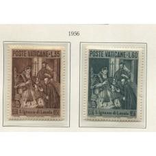 VATICANO 1956 Yv. 230/1 SERIE COMPLETA DE ESTAMPILLAS NUEVAS MINT