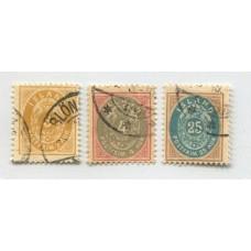 ISLANDIA 1900 Yv. 20/2 SERIE DE ESTAMPILLAS USADAS 74 EUROS