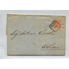 AUSTRIA 1852 PLIEGO COMPLETO MATASELLO TRIESTE CIRCULADO A UDINE