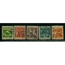 AUSTRIA 1924 SERIE COMPLETA YVERT 326/30  USADA  75 EUROS