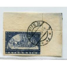 AUSTRIA 1933 Yv. 430 SELLO WIPA 1933 USADO CON BORDES ESQUINA DE HOJA DE LUJO 325 Euros