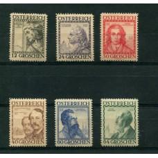 AUSTRIA 1934 SERIE COMPLETA YVERT 460A/5 NUEVA HERMOSA 105 EUROS