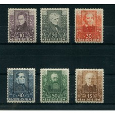 AUSTRIA 1931 SERIE COMPLETA YVERT 399/04  NUEVA PARECE MINT 135 EUROS