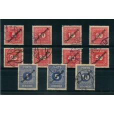 AUSTRIA TAXA 1918 SERIE COMPLETA YVERT 64/74 € 62